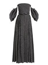 Loewe | Off-the-shoulder polka-dot print gown | Clouty