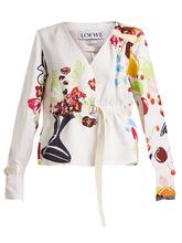 Loewe | Floral and fruit-print tie-waist jacket | Clouty