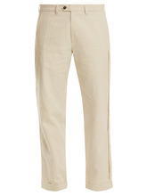 Jupe By Jackie   Ebeko embroidered mid-rise cotton trousers   Clouty