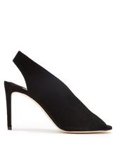 Jimmy Choo | Shar 85 peep-toe suede slingback sandals | Clouty