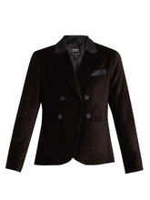 A.P.C. | Double-breasted cotton-velvet blazer | Clouty