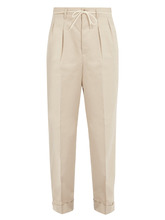 Maison Margiela | Straight-leg herringbone cotton trousers | Clouty