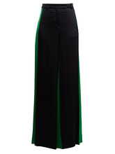 VALENTINO | Wide-leg hammered-satin trousers | Clouty