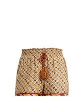 Talitha | Tutsi graphic-print cotton and silk-blend shorts | Clouty