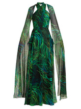 Elie Saab | Twisted-neck silk-georgette gown | Clouty