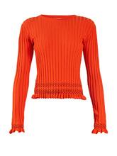 Altuzarra | Malou ruffled-cuff ribbed-knit sweater | Clouty