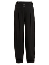 Chloé | High-waist wide-leg crepe trousers | Clouty