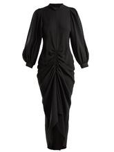 JOSEPH | Fay ruched silk-crepe dress | Clouty
