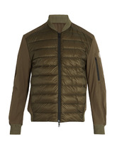 MONCLER | Ariege contrast-panel quilted down jacket | Clouty