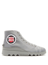 MIU MIU | High-top canvas trainers | Clouty