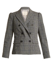Rebecca Taylor | Double-breasted checked jacket | Clouty