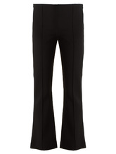 The Row | Beca stretch-cady kick-flare trousers | Clouty