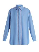 Maison Margiela | Oversized point-collar cotton shirt | Clouty