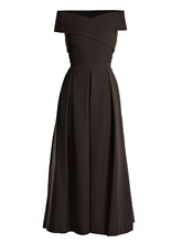 Preen By Thornton Bregazzi | Virginia off-the-shoulder cady dress | Clouty