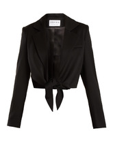 Osman | Bette tie-waist wool-blend jacket | Clouty