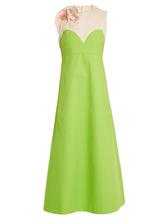 Delpozo | Floral-applique embellished A-line cotton dress | Clouty