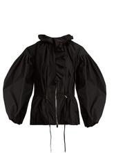 Giambattista Valli | Ruffle-trimmed drawstring-waist taffeta jacket | Clouty