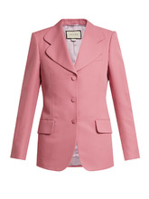 GUCCI | Single-breasted curved notch-lapel blazer | Clouty