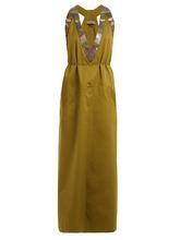Bottega Veneta | Tie-waist V-neck cotton-blend dress | Clouty
