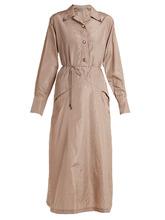 Bottega Veneta | Tie-waist silk-taffeta shirtdress | Clouty