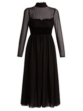 VALENTINO | Polka-dot fil-coupe silk-blend gown | Clouty