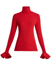 VALENTINO | Ribbed-knit roll-neck sweater | Clouty