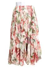 Dolce & Gabbana | Ruffled floral-print silk-chiffon midi skirt | Clouty