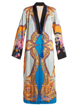 Etro | Jasper paisley and floral-print crepe coat | Clouty