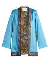 Etro | Agate floral-brocade satin jacket | Clouty