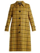 Bottega Veneta | Plaid A-line wool coat | Clouty