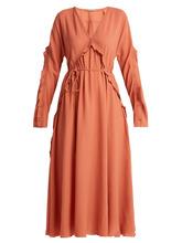 Bottega Veneta | Ruffle-trimmed silk dress | Clouty