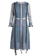 Altuzarra | Grenelle broderie-anglaise patchwork cotton dress | Clouty