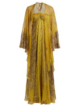 Etro | Paisley-print embellished silk-georgette gown | Clouty
