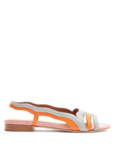 Malone Souliers | Flameana contrast panel leather sandals | Clouty