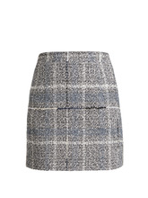 Alessandra Rich | Cotton-blend tweed mini-skirt | Clouty