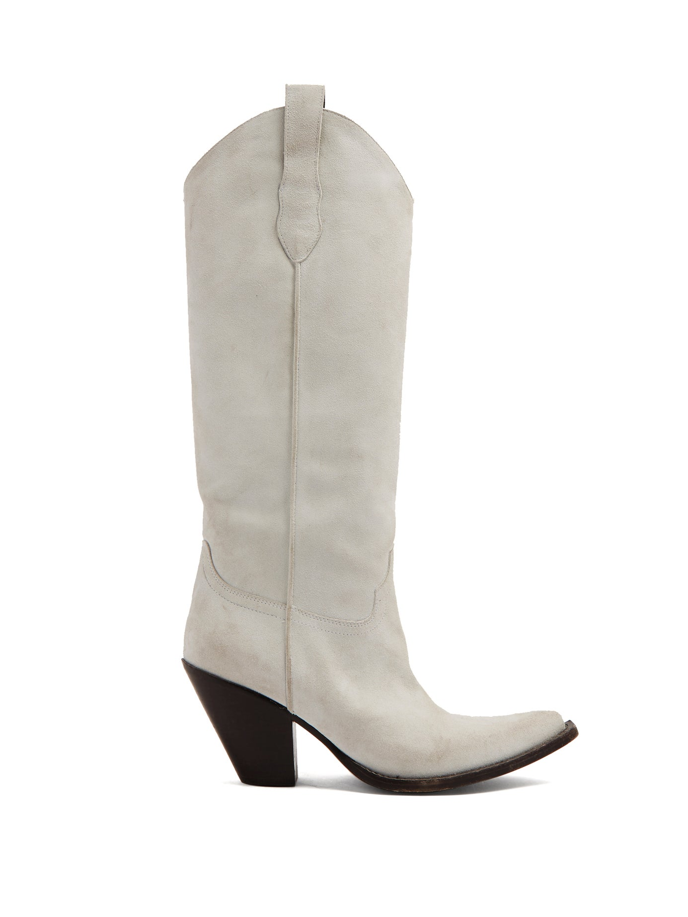 Maison Margiela | Western suede knee-high boots | Clouty