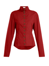 LEMAIRE   Stand collar button-fastening cotton shirt   Clouty