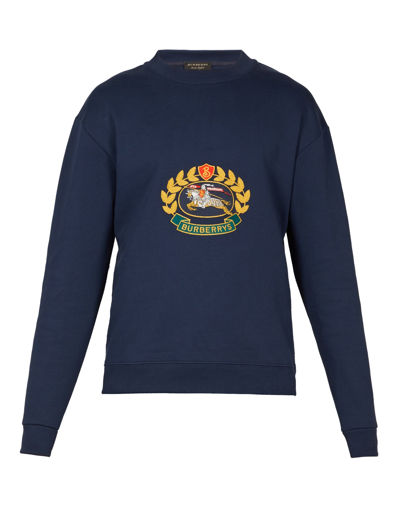 Burberry Crest Clouty Unisex Sweatshirt Logo Embroidered r4v5Crqxw