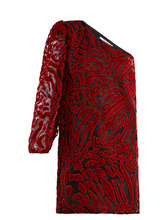 GIVENCHY | Asymmetric velvet devore mini dress | Clouty
