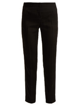 GIVENCHY | Straight-leg crepe trousers | Clouty