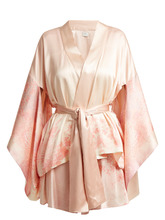 Hillier Bartley | Floral-print silk kimono jacket | Clouty
