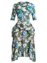 Balenciaga | Floral-print wrap-around jersey dress | Clouty