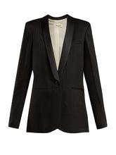 Masscob | Alvy single-breasted crepe blazer | Clouty