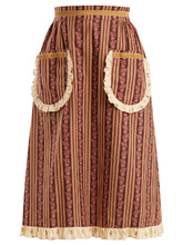 BATSHEVA | Frill-trimmed floral-print cotton skirt | Clouty