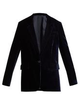 Stella McCartney | Single-breasted velvet blazer | Clouty
