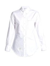 Thom Browne | Frayed-edge cotton shirt | Clouty
