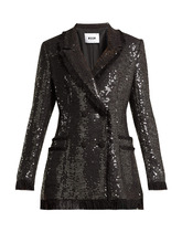 MSGM | Sequin cotton-blend tweed blazer | Clouty