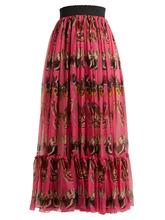 Dolce & Gabbana | Butterfly-print silk-chiffon maxi skirt | Clouty