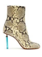 VETEMENTS | Python-effect lighter-heel leather ankle boots | Clouty
