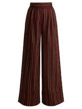 PALMER/HARDING | Striped cotton-twill wide-leg trousers | Clouty